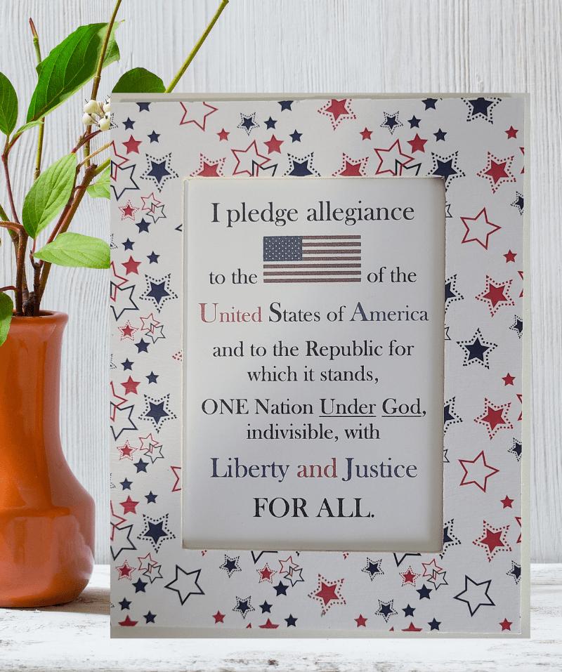 5x7 Framed U.S. Pledge of Allegiance